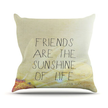 "Rachel Burbee ""Friends & Sunshine"" Throw Pillow"