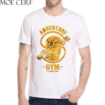 Adventure Time T Shirt 2017 Summer Men's Tops Tees Fashion Trends Fitness Men T-shirt Cool Boy Punk Style Top Tees L10-H-68
