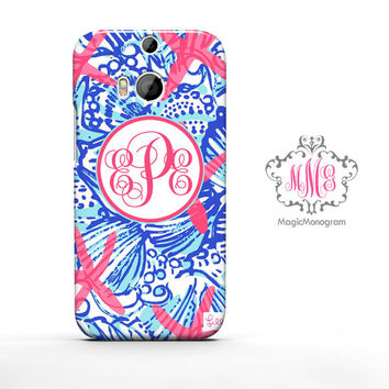 She She Shells Lilly Pulitzer Monogram HTC Case M9, M8 Case