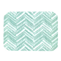 "Heidi Jennings ""Painted Chevron"" Teal Green Place Mat"