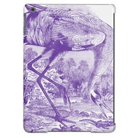 Vintage Bird Picture | Purple | Whooping Crane iPad Air Cover