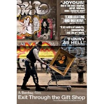 Exit Through The Gift Shop Movie poster Metal Sign Wall Art 8in x 12in