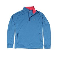 Custom Nine Mile Performance 1/4 Zip in Azure Blue by Vineyard Vines