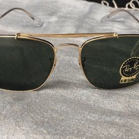 New RAY-BAN Sunglasses THE COLONEL RB 3560 001 61-17 Gold Aviator w/ G-15 Lens