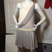 Grecian Chiffon Silk Rag & Bone Gray Dress Sz 2 ❤️