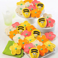 Buttercream Frosted Spring Cut-out Cookies from 1-800-FLOWERS.COM