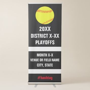 High School Softball Playoffs Tournament or Game Retractable Banner
