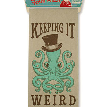 Keeping It Weird Octopus Bar Towel