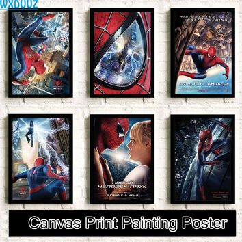 Spiderman Movie Reying quality HD Painting Home Decor Art Decor room living posters wall art canvas painting No Frame K36