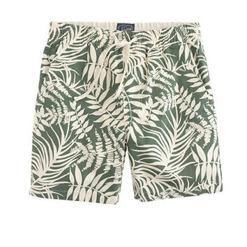 J.Crew Mens Dock Short In Fern Print