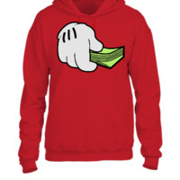 Mickey Mouse Hand and Money  - UNISEX HOODIE