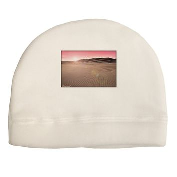 Victor Mines Pink Sunrise Adult Fleece Beanie Cap Hat