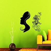 Wall Decals Hairdressing Hair Beauty Salon Decal Vinyl Sticker Haircut Scissor Home Decor Window Decals Living Room Art Murals