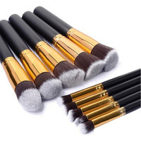 10 Piece Professional Soft Make Up Brushes