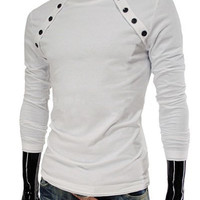 Buttons Design Long Sleeve T-Shirt