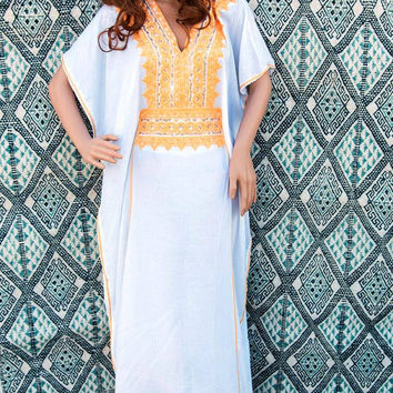 white caftan, white kaftan, white dress, resortwear, loungewear,morrocan caftan,berber dress,oriental dress, oriental kaftan.