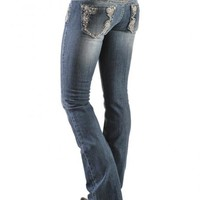 Grace in L.A. Lace Stitch Boot Cut Jeans - Sheplers