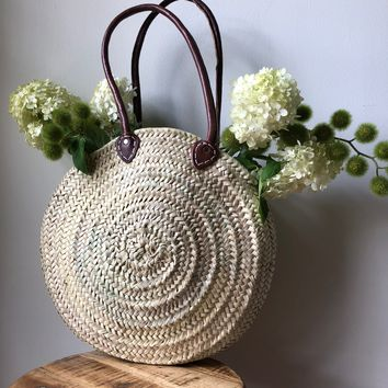 Round French Market Basket - Picnic Basket