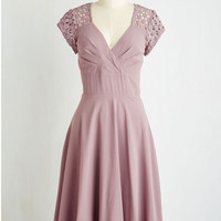 Long Short Sleeves Put a Bard On It Dress in Dusty Lilac