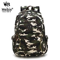 AOU Mens Backpacks Women Shoulder Bag Canvas Printing Backpack School Bags For Teenage Boys Camouflage Rucksack Back Pack