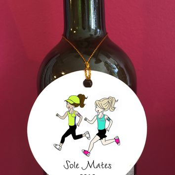 Sole Mates Friendship Runner Ornament/Wine Tag