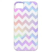 Pastel Rainbow White Chevron iPhone 5 Case
