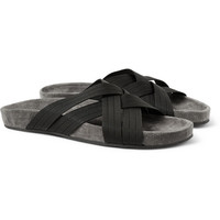 Dan Ward - Woven Crossover and Suede Sandals | MR PORTER