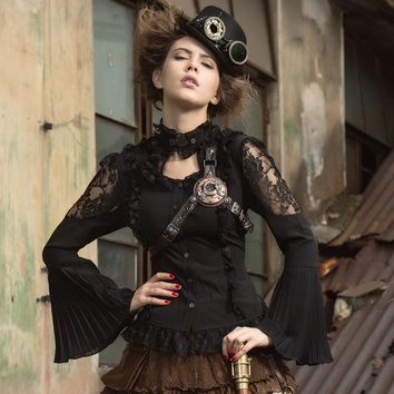 *gothic steampunk womens blouse