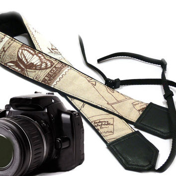 Original design Camera Strap. Vintage Camera Strap. DSLR / SLR Camera Strap.  For Sony, canon, nikon, panasonic, fuji and other cameras.