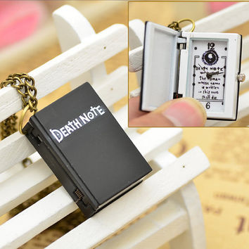death note pocket watch note book long necklace watch sweater necklace summer trending popular friendship graduation fathers day gifts