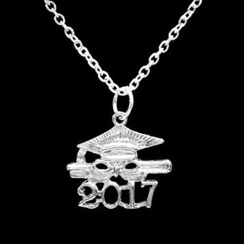 Graduation Gift Class Of 2017 Graduate Gift Charm Pendant Necklace