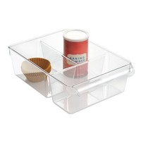 InterDesign Linus  Pullz Kitchen and Pantry Bin with Dividers, Clear