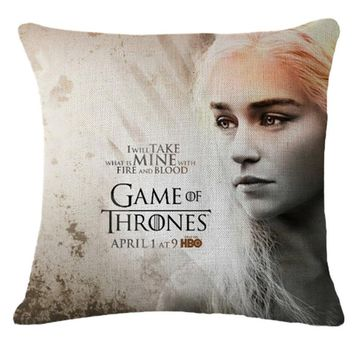 Game Of Thrones Pillowcase Cotton Linen Bedroom Chair Seat Throw Pillow Case Decorative Pillows Pillow Covers