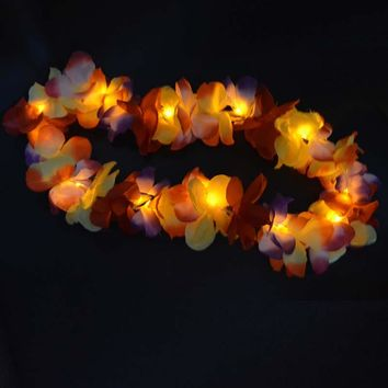 10-Count Glowing LED Hawaiian Leis for Parties