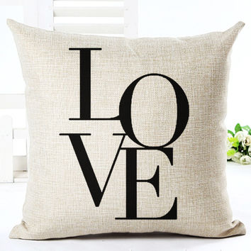 """LOVE"" Throw Pillow"