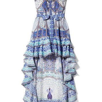 Camilla - Wings To Fly embellished printed silk crepe de chine maxi dress