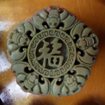 Wudang Happiness Pendant of Sandstone