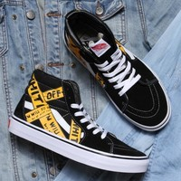 Fashion Online Off-white X Vans Classic Men & Women Casual Shoes
