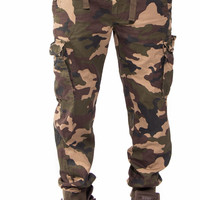Camouflage Cargo Slim Fit Jogger Pants