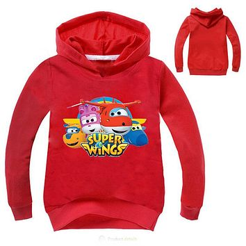Z&Y Newest Ajax 2017 Fall Super Wings Baby Girls Clothes Kids Novelty Hoodies Boys Jumper Kids Hoodies and Sweatshirts Fashion