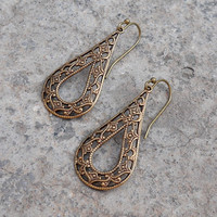 Vintage filigree drop earrings
