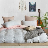 Cotton Naked Bedding Set - Includes Duvet Cover, Shams and Fitted Sheet