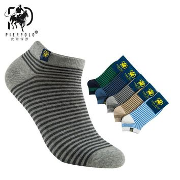 2017 Rushed Mens Socks The New Korean Version Of Pier Polo Spring And Summer Striped Cloth Standard Cotton Socks Men Wholesale