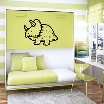 Nursery Decals Wall Stickers Wall decals Nursery Baby Girl Baby Boy Children Kids Room Bedroom Stickers Triceratop Dinosaur Cartoon nm162
