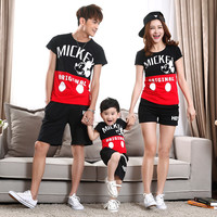 t-shirtmommy and me clothesfashionmother father babycottonfamily matching outfitsshort sleevecharacter4512