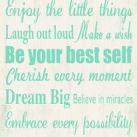 Artissimo Designs 33586CPBG0 Live Your Dream 1-Piece Sign Image Printed Canvas Art, 30 by 15-Inch, White/Blue
