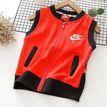 Nike Girls Boys Children Baby Toddler Kids Child Fashion Casual Vest Tank Top Jacket