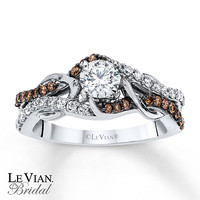 LeVian Chocolate Diamonds 3/4 ct tw Engagement Ring 14K Gold