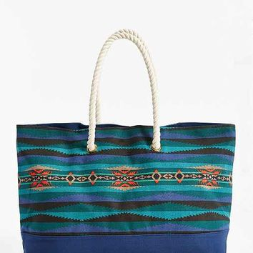Pendleton Printed Canvas Tote Bag- Blue One