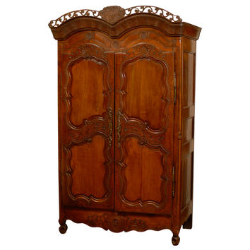 Late 18th Century French cherry armoire from Rennes